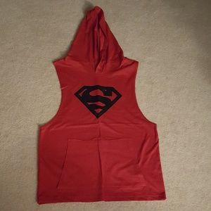 Other - Mens Red Superman Hooded Tank Top Medium NWOT